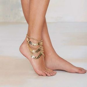 Jewelry - Summer Leaves , Chain Anklet